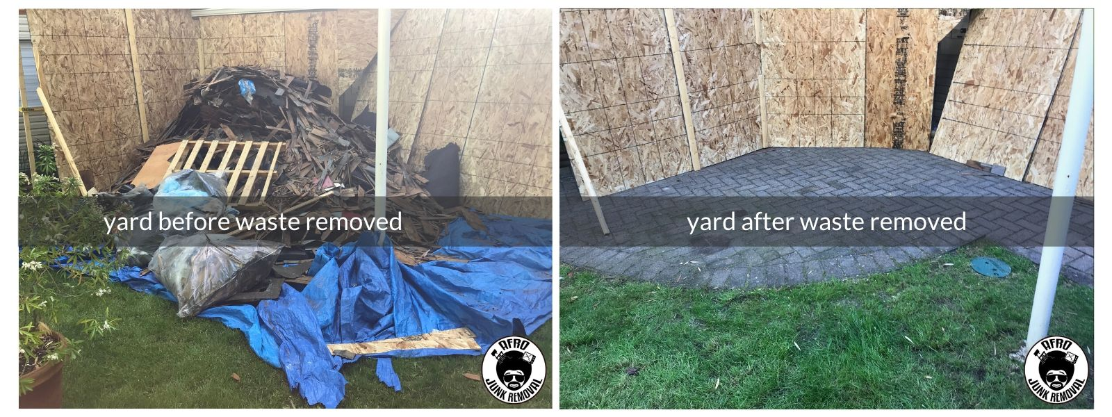 Yard Waste Removal Photos