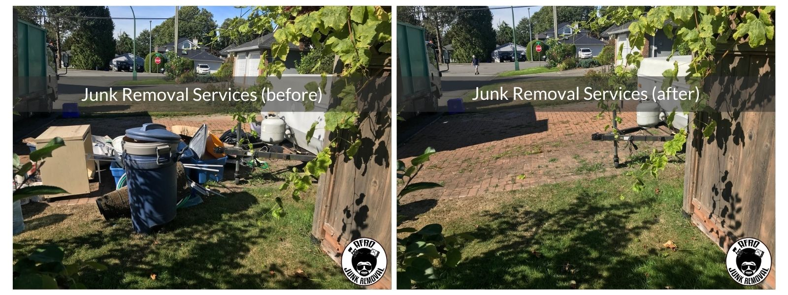 Junk Removal Services Photo, Before and After